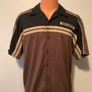 Harley Davidson Short Sleeve Work Shirt Size M